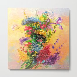 A bouquet of beautiful wildflowers Metal Print