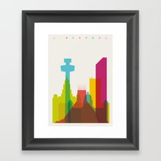 Shapes of Liverpool. Accurate to scale. Framed Art Print