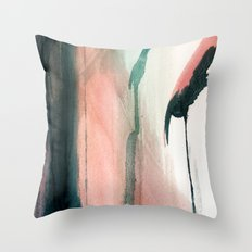 Lovely [5] - a bright abstract mixed media piece Throw Pillow
