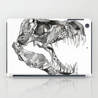 t rex iPad Cases featuring T Rex by Cherry Virginia