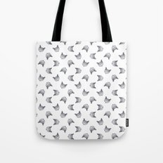 russian blue cat face Tote Bag