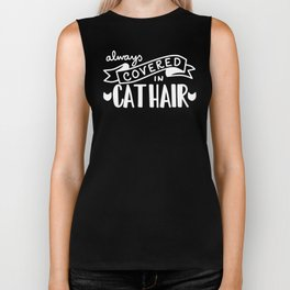 Covered in Cat Hair (Inverted) Biker Tank