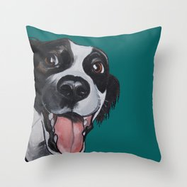 Maeby the border collie mix Throw Pillow