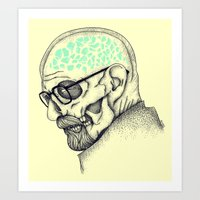 heisenberg Art Prints featuring Heisenberg by Mike Koubou