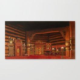 BILIBINE, IVAN 1876-194) Set Design for the Rimsky-Korsakov Opera  The Tsar Bride , Act I Canvas Print