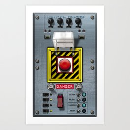 Launch console for nuclear missile Art Print