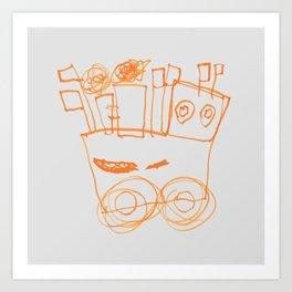 Ben's Monster Trucks no.2 Art Print