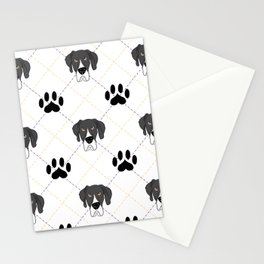 Mantle Great Dane Paw Print Pattern Stationery Cards