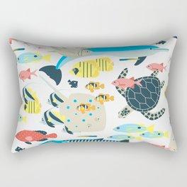 Coral reef animals Rectangular Pillow