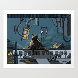 floating4: inspection Art Print