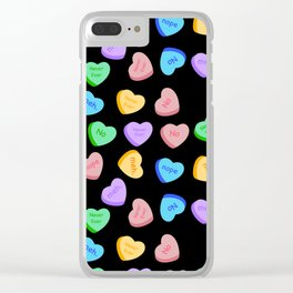 NO - Unhappy Valentines day repeating pattern Clear iPhone Case