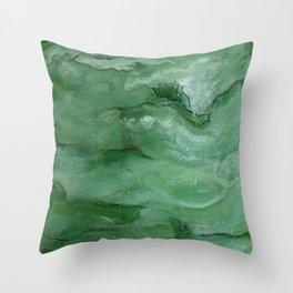 Jade - Original Art (encaustic painting) Throw Pillow