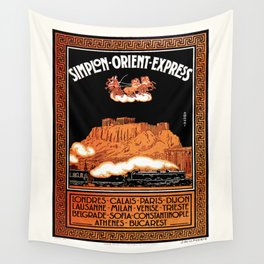 Simplon Orient Express London Athens Wall Tapestry
