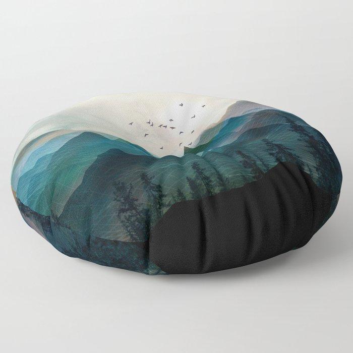 Mountain Sunrise II Floor Pillow