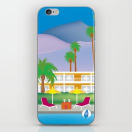 Palm Springs, California - Skyline Illustration by Loose Petals iPhone Skin