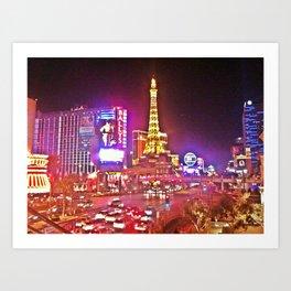 Las Vegas Strip HDR Art Print
