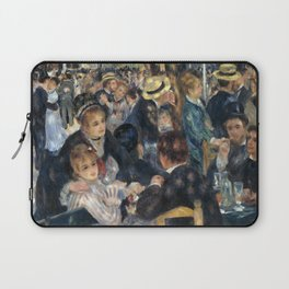 Auguste Renoir -Bal du moulin de la galette, Dance at Le moulin de la Galette Laptop Sleeve