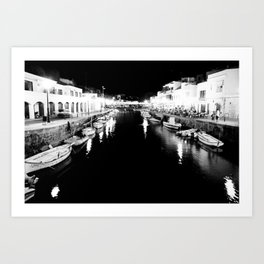 Menorca - Ciutadela by night Art Print