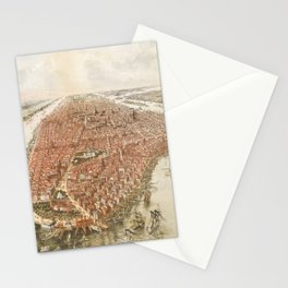 new york city old map Stationery Cards