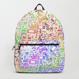 Video Gaymer Pastel Pattern Backpack