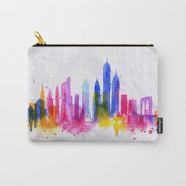 Silhouette overlay city New york Carry-All Pouch