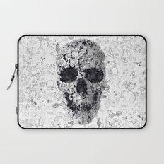 Doodle Skull BW Laptop Sleeve