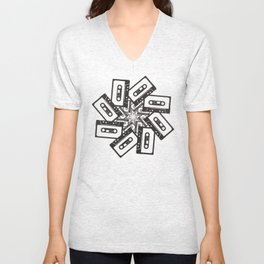 Mix Tape Whirl Unisex V-Neck