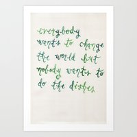 little things, big difference. Art Print