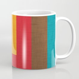 Abstract Mod Cube Beige #midcenturymodern Coffee Mug