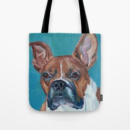 Walker the Boxer Dog Portrait Tote Bag