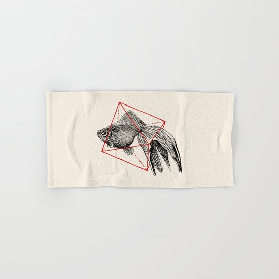 Fish In Geometrics III Hand & Bath Towel