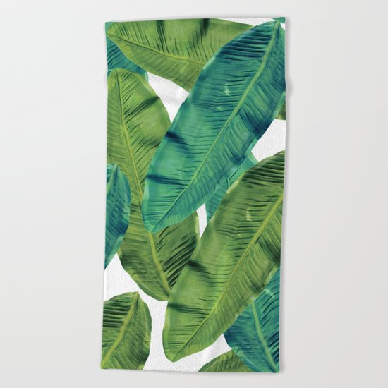 tropical life 7 Beach Towel