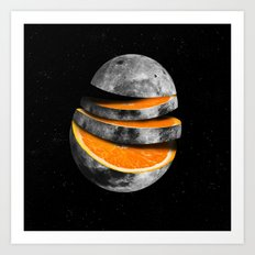 Orange Moon Art Print