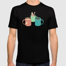 Mugs Black X-LARGE Mens Fitted Tee