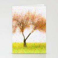 tree of life Stationery Cards featuring Life Tree by Joao Bizarro