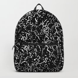 Ancient Snakes Black and White Backpack