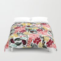 garden Duvet Covers featuring Wild Garden II by Bouffants and Broken Hearts