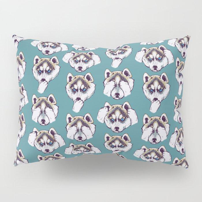 No Evil Husky Pillow Sham