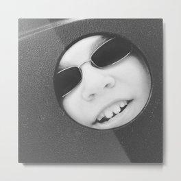 Hello Moon Metal Print