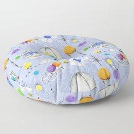 winter fluffies Floor Pillow