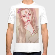 Opened third eye White Mens Fitted Tee LARGE