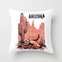 arizona Throw Pillows featuring Arizona by Krikoui