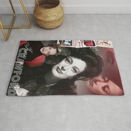 Joan Crawford Collage Portrait Rug