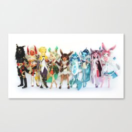 Eeveelution Dolls Canvas Print