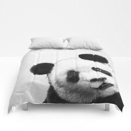 peekaboo panda Comforters