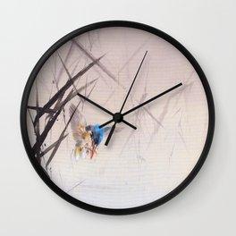 Watanabe Seitei - Kingfisher - Digital Remastered Edition Wall Clock
