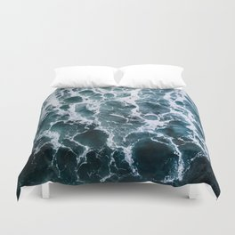 Minimalistic Veins in a Wave  - Seascape Photography Duvet Cover
