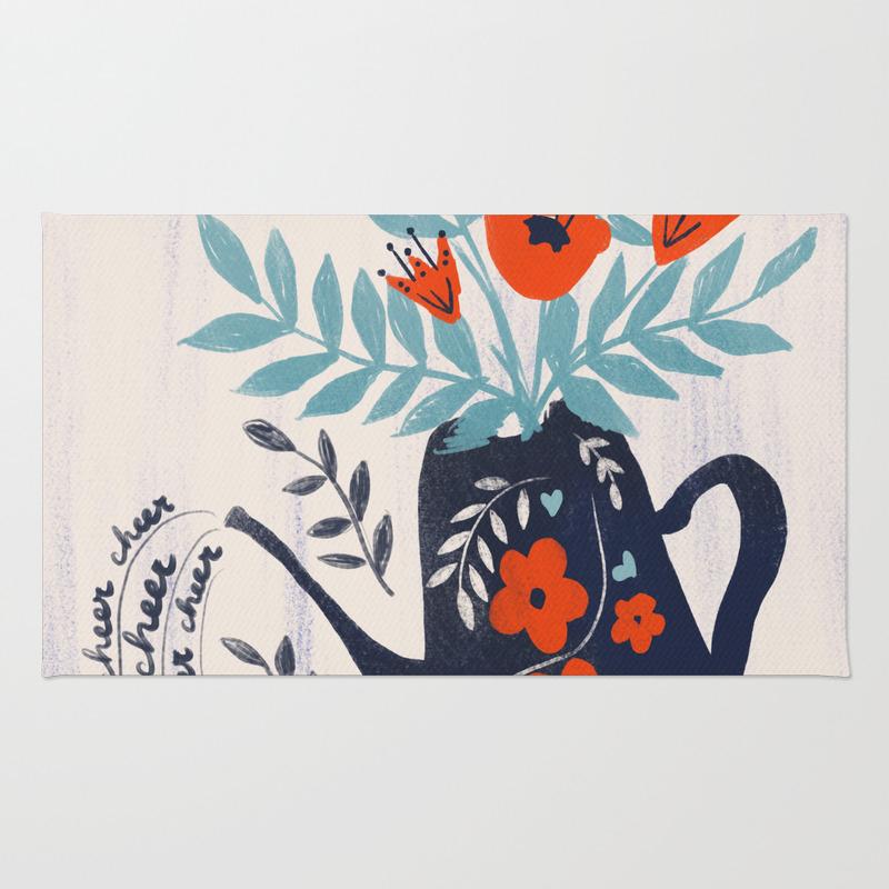 Cup Of Cheer Rug by Katejoycreative RUG8522319