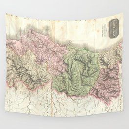 Vintage Map of Portugal (1818) Wall Tapestry