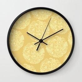 Circle (yellow) Wall Clock